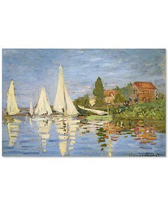 'Regatta at Argenteuil' by Claude Monet Canvas Print