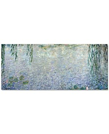 "'Waterlillies Morning II' by Claude Monet 20"" x 47"" Canvas Print"
