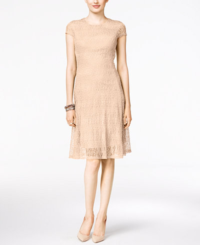 Alfani Lace A-Line Dress, Only at Macy's - Dresses - Women ...