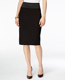 I.N.C. Curvy-Fit Pencil Skirt, Created for Macy's