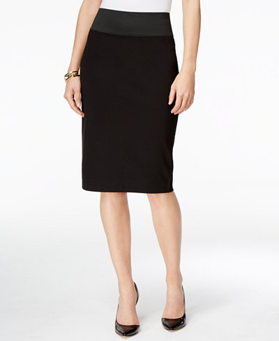 INC International Concepts Curvy-Fit Pencil Skirt, Only at Macy's ...