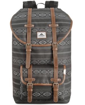 Steve Madden Men's Aztec Print Nylon Utility Backpack