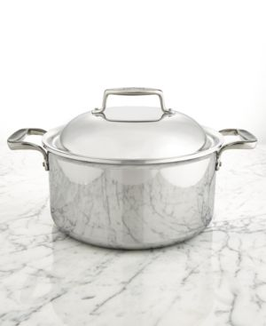 All-Clad d7 Stainless Steel 8-Qt. Round Oven with Domed Lid 2827759