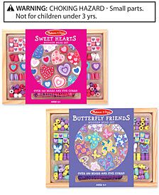 Melissa & Doug Girls' Sweet Hearts & Butterfly Friends Bead Set Bundle