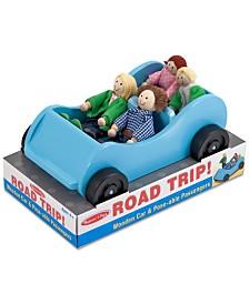 Melissa & Doug Kids' Road Trip! Wooden Car & Pose-able Passengers