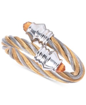 Charriol Women's Fabulous Citrine-Accent Two-Tone Pvd Stainless Steel Cable Ring