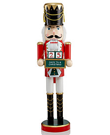 "Holiday Lane 24"" Wood Countdown to Christmas Nutcracker, Created for Macy's"