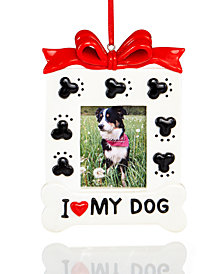 Holiday Lane I Love My Dog Picture Frame Ornament, Created for Macy's