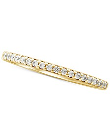 Diamond Stackable Band (1/7 ct. t.w.) in 14k Gold, White Gold or Rose Gold