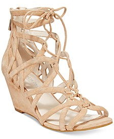 Women's Dylan Lace-Up Wedge Sandals