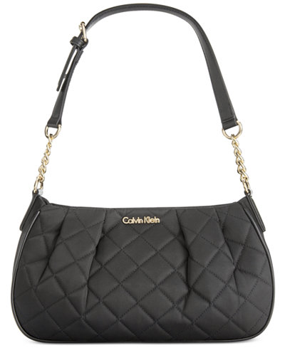 Calvin Klein Quilted Nylon Demi Bag