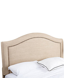 Joana King/California King Nailhead Trim Linen Headboard, Quick Ship