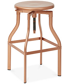 "Dewer 30"" Rotating Adjustable Metal Bar Stool, Quick Ship"