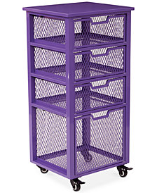 Atwell 4-Drawer Rolling Storage Cabinet, Quick Ship