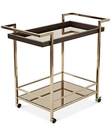 Erynn Rectangular Bar Cart, Quick Ship