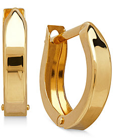 Children's Hinged Cuff Hoop Earrings in 14k Gold
