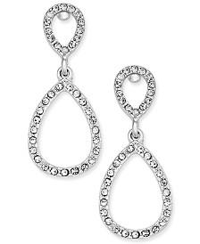 I.N.C. Pavé Teardrop Drop Earrings, Created for Macy's