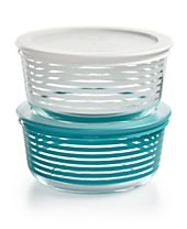 Pyrex Striped 4-Pc. Storage Set, Created for Macy's