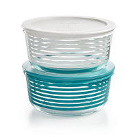 Pyrex Striped 4-Pc. Storage Set
