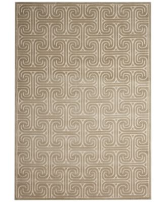 "CLOSEOUT! Interlock KRH20 Light Grey 3'6"" x 5'6"" Area Rug, Created for Macy's"