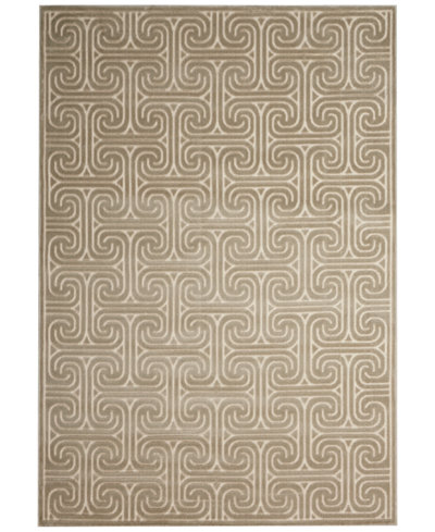 CLOSEOUT! Kelly Ripa Home Interlock KRH20 Light Grey Area Rug, Created for Macy's