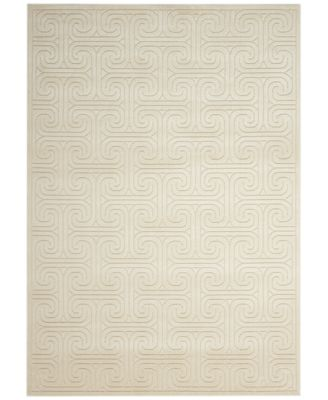 CLOSEOUT! Interlock KRH20 Ivory/Beige 2'3'' x 8' Runner Rug, Created for Macy's