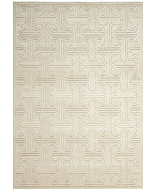 "CLOSEOUT! Kelly Ripa Home Interlock KRH20 Ivory/Beige 5'3"" x 7'5"" Area Rug, Created for Macy's"