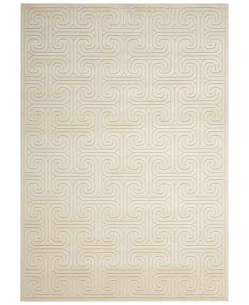 Kelly Ripa Home CLOSEOUT! Interlock KRH20 Ivory/Beige 2'3'' x 8' Runner Rug, Created for Macy's