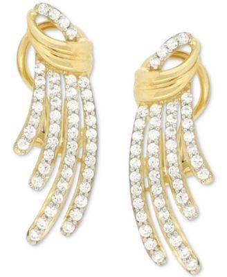 Diamond Drop Earrings (1 ct. t.w.) in 14k Gold, Created for Macy's