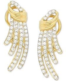 Wrapped in Love Diamond Drop Earrings (1 ct. t.w.) in 14k Gold, Created for Macy's