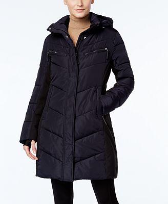 Calvin Klein Hooded Water Resistant Puffer Coat Coats