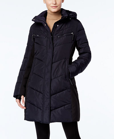 Calvin Klein Hooded Water-Resistant Puffer Coat - Coats - Women ...
