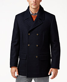 Lauren Ralph Lauren Luke Big and Tall Solid Peacoat