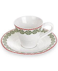 Portmeirion Sophie Conran Christmas Snowflake Espresso Cup and Saucer