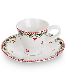 Portmeirion Sophie Conran Christmas Sugar Plum Fairy Espresso Cup and Saucer