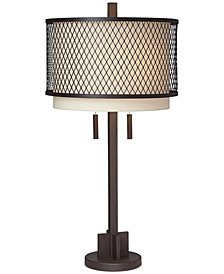 CLOSEOUT! Pacific Coast Industrial Double Shade Table Lamp