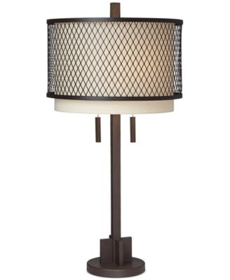 pacific coast industrial double shade table lamp