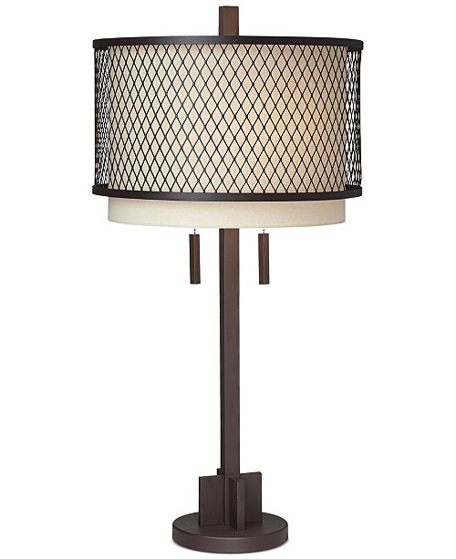 Pacific Coast CLOSEOUT! Industrial Double Shade Table Lamp