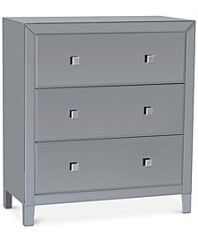 Morana Mirrored Three Drawer Chest, Quick Ship