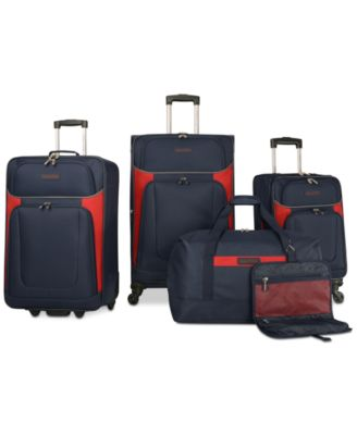 Image of Nautica Oceanview 5 Piece Luggage Set, Only at Macy's