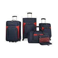 5-Piece Nautica Oceanview Luggage Set (Navy/Red)