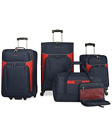 Nautica Oceanview 5 Piece Luggage Set, Created for Macy's