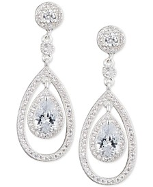 Crystal and Pavé Orbital Drop Earrings