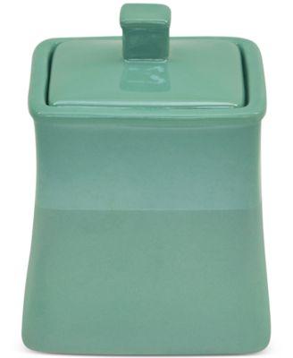 Kensley Aqua Covered Jar