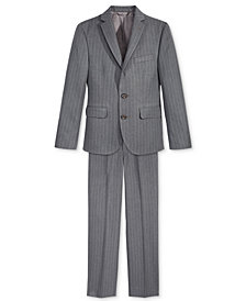 Lauren Ralph Lauren Charcoal Stripe Nested Jacket & Pants Separates, Big Boys
