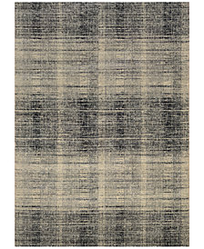 "Couristan Taylor Suffolk Black-Grey 2'7"" x 7'10"" Runner Rug"