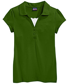 Nautica School Uniform Layered-Look Polo Shirt, Big Girls Plus