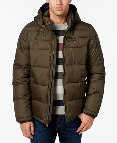 Tommy Hilfiger Men's Big & Tall Hooded Puffer Coat