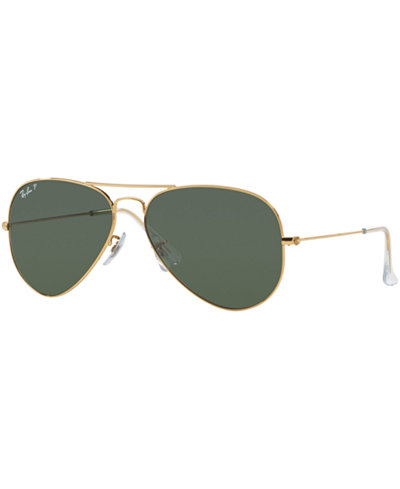 Ray-Ban Polarized Original Aviator Sunglasses, RB3025 55