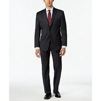 Michael Kors Classic-Fit Pinstripe Men's Suit (Charcoal)